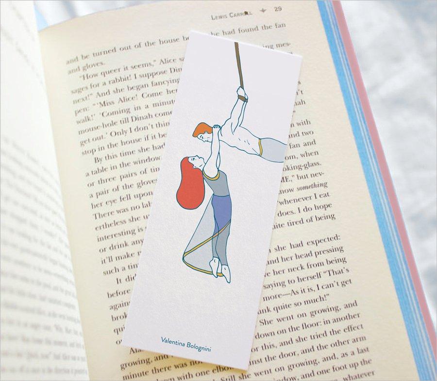 Aerial straps bookmark