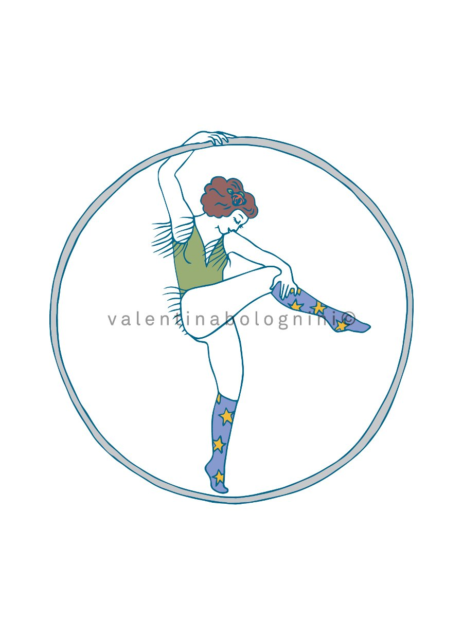 Roue Cyr circus artist